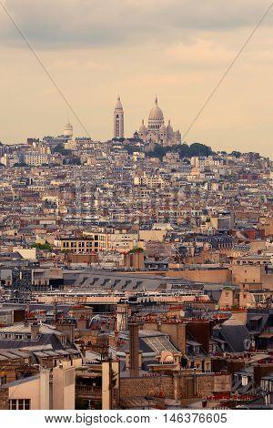 The a Basilique Du Sacre Coeur Paris
