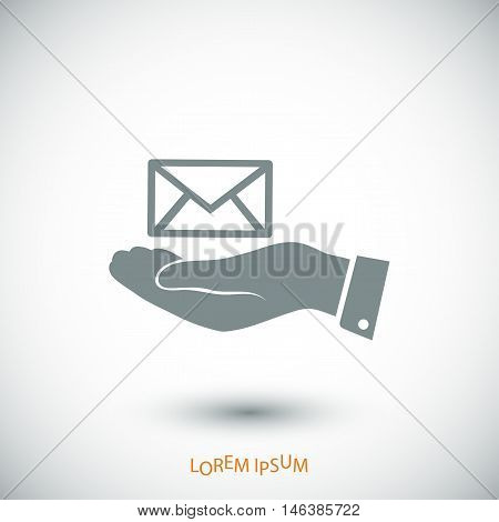 Envelope Icon In Hand