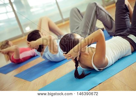 People doing some aerobic exercises