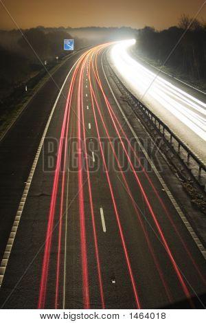 Traffic Flow At Night