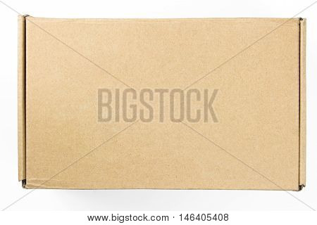 Packaging Box On White Background. Cardboard box on white background.
