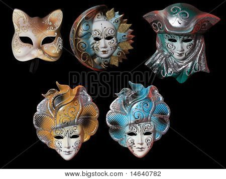Beautiful carnival masks from Venice Italy