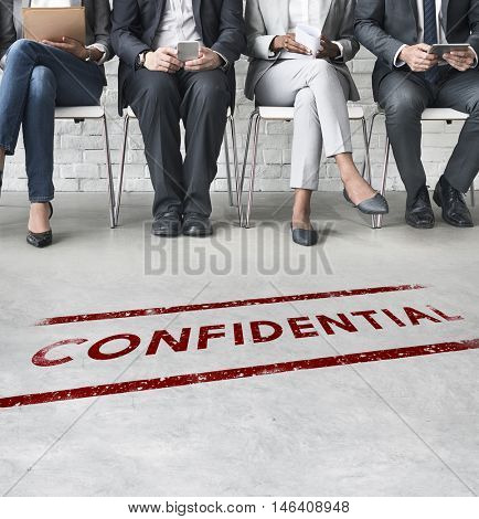 Confidential Personal Privacy Restricted Graphic Concept poster