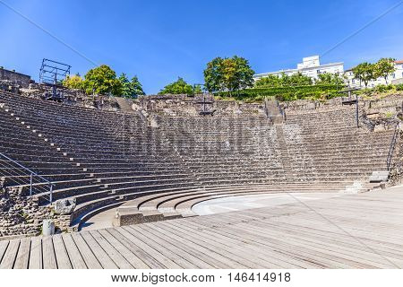Amphitheater Of The Three Gauls In Fourviere Above Lyon France
