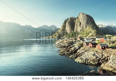 Fishing hut  in the Hamnoy - Reine, Lofoten islands, Norway
