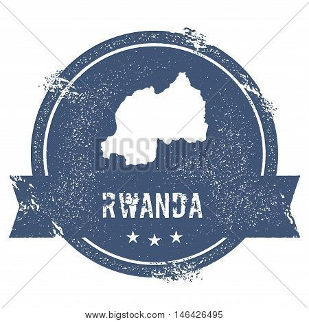 Rwanda Mark. Travel Rubber Stamp With The Name And Map Of Rwanda, Vector Illustration. Can Be Used A