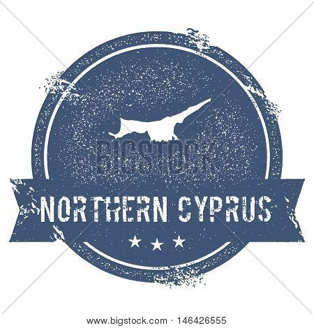Northern Cyprus Mark. Travel Rubber Stamp With The Name And Map Of Northern Cyprus, Vector Illustrat