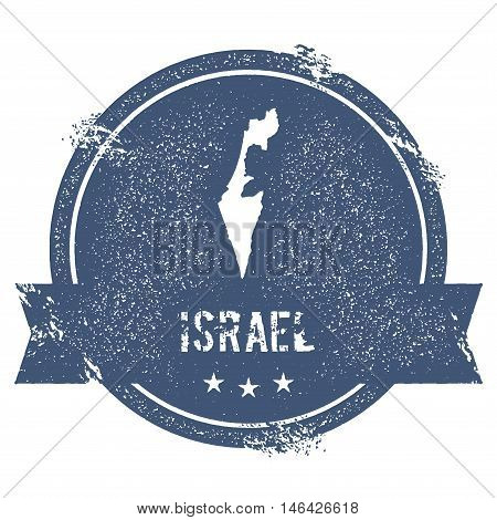 Israel Mark. Travel Rubber Stamp With The Name And Map Of Israel, Vector Illustration. Can Be Used A