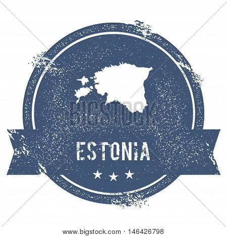 Estonia Mark. Travel Rubber Stamp With The Name And Map Of Estonia, Vector Illustration. Can Be Used
