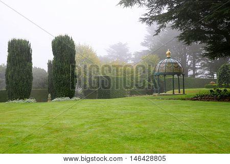Dunedin, New Zealand - Febr 10, 2015: Garden At Larnach Castle