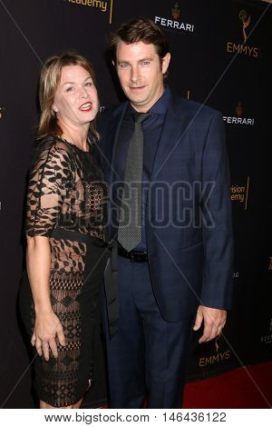 LOS ANGELES - SEP 8:  Wife, Derek Cecil at the TV Academy Reception for the Nominees for Outstanding Casting at the Montage Hotel on September 8, 2016 in Beverly Hills, CA