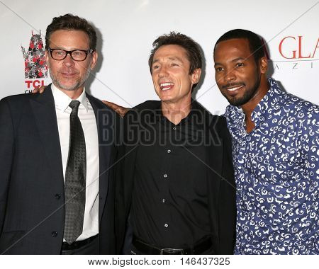 LOS ANGELES - SEP 7:  Connor Trinneer, Dominic Keating, Anthony Montgomery at the
