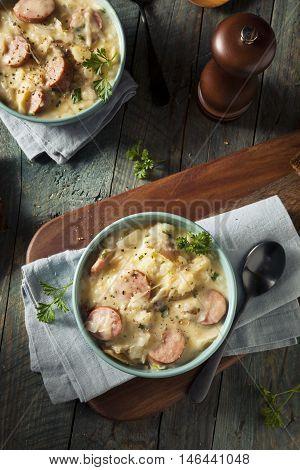 Homemade Sauerkraut And Sausage Soup