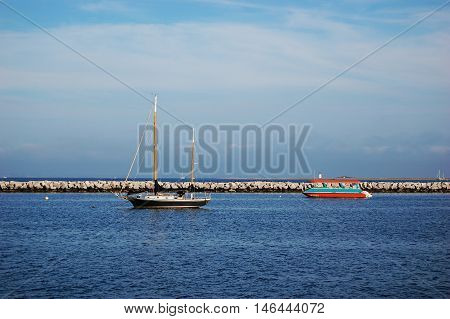 Sailing Boats in the harbor in Cape Cod National Seashore, Provincetown, Massachusetts, USA