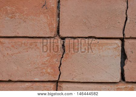 Brick wall old abstract background Texture background closup