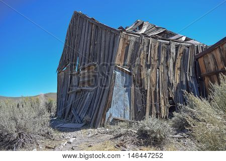 Practically Falling Down: an old dilapidated dwelling, in the historic ghost town, Bodie