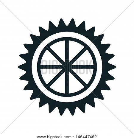 gear cogwheel power transmission mechanic. vector illustration poster