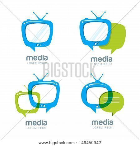 Media And Tv News Vector Logo Design Template.