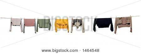 Drying Clothes, Isolated