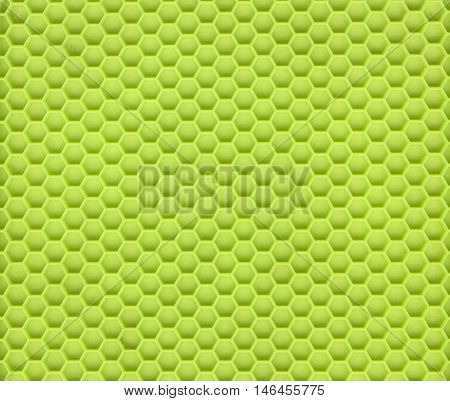 Close Up of a Green Silicon Material