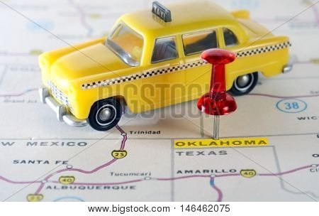 Oklahoma Usa Map Taxi