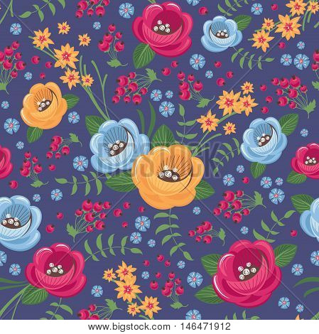 Seamless pattern background with flowers vector illustration