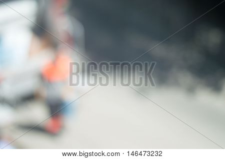 Abstract Background of Blurred City and People