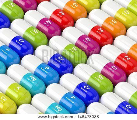 3D Rendering Of Dietary Supplements