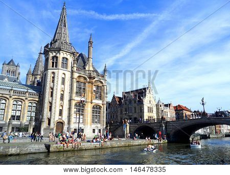A perfect day in Gent, Belgium. Stunning Architecture on Sunny day