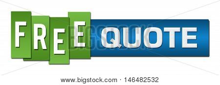 Free quote text alphabets written over green blue background.