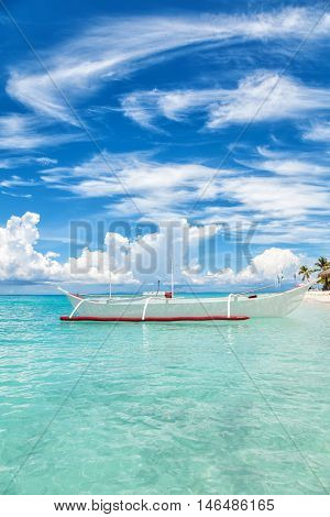 Boat On A Tropical Island