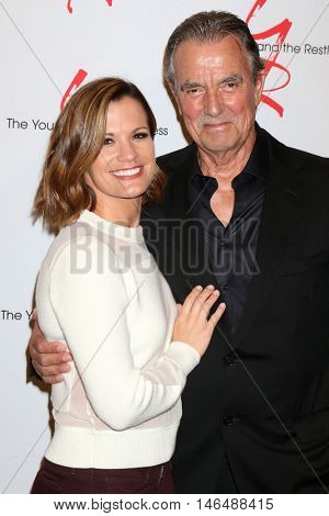 LOS ANGELES - SEP 8:  Melissa Claire Egan, Eric Braeden at the Young and The Resltless 11,000 Show Celebration at the CBS Television City on September 8, 2016 in Los Angeles, CA