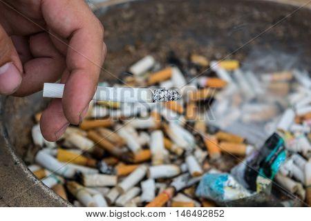 tobacco, no, cigarette, white, hand, nicotine, death