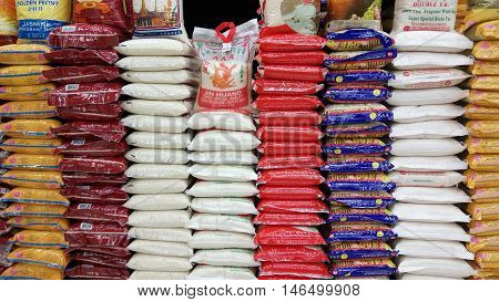 Rice Sold In Store In Singapore