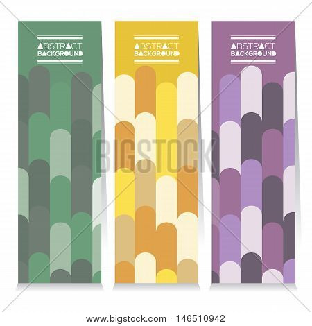 Set Of Three Colorful Vertical Banners Vector Illustration. EPS 10