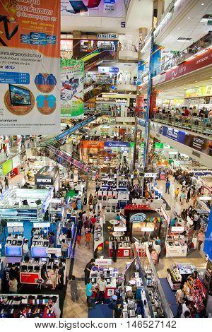 Bangkok Thailand - March 05 2011 - Pantip Plaza the famous IT shopping mall in Bangkok