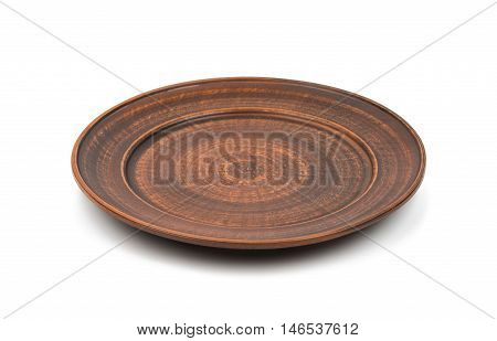 earthenware  houseware dish on a white background