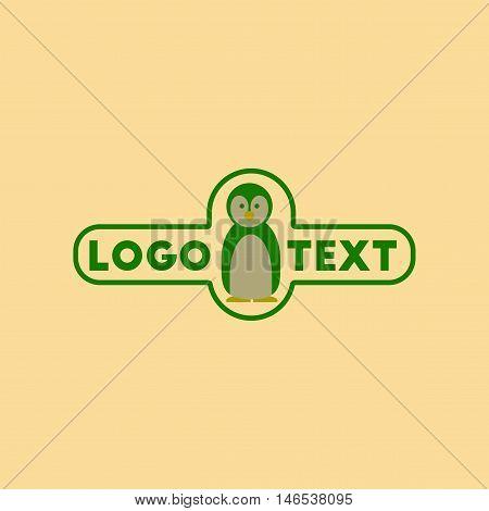 flat icon on stylish background penguin logo. Vector.