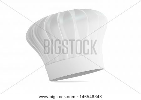 Chefs Hat 3D rendering isolated on white background