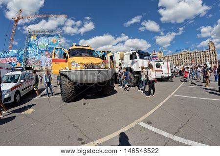An All-terrain Vehicle Kerzhak On Huge Wheels Of Disaster Medicine