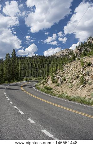 View of Beartooth Highway Wyoming/Montana United States