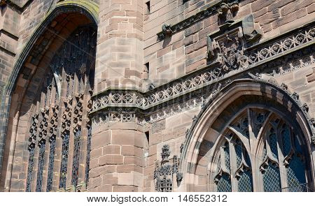 Chester cathedral in detail, Cheshire, England, UK