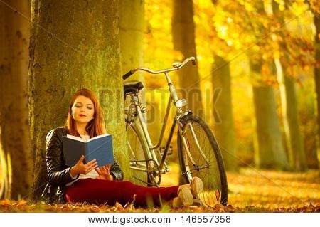 Lady Reading Under Tree.