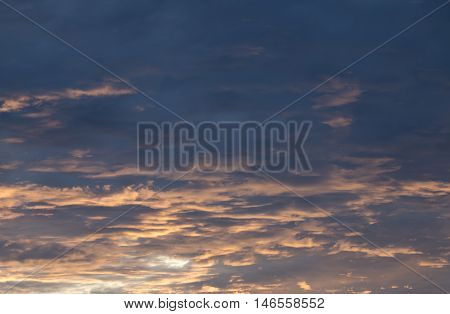 Cloud soft and colorful in the sky evening