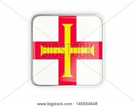 Flag Of Guernsey, Square Icon