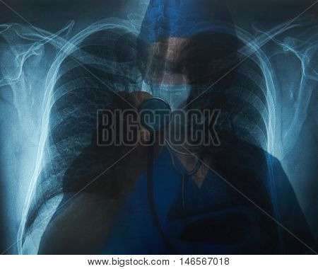 Doctor Radiologist With Stethoscope