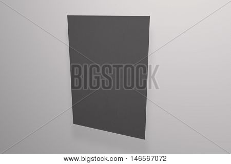 Mock up black poster on background. Poster standart format A5 / A4 / A3 / A2 / A1/ A0. 3D rendering for your design and template.
