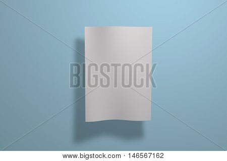 Mock up white poster on background. Poster standart format A5 / A4 / A3 / A2 / A1/ A0. 3D rendering for your design and template.