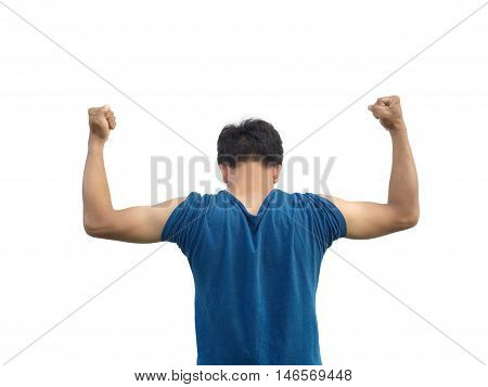 boy Show the strength of the biceps