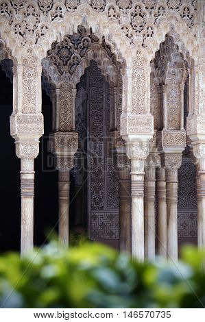 As above - Alhambra palace is the finest representation of Arabic architecture in Andalucia Spain.